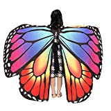 ZEZKT Kinder Mädchen Schmetterlingsflügel Schmetterling kostüm Karneval Party Wasserdicht Kostüm Weicher Stoff Faschingskostüme Fee Damen Nymphe Pixie Kostümzubehör
