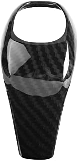 Cuque Shift Knob Trim, Carbon Fiber Style Anti-Slid Gear Shifter Cover Ergonomic ABS Plastic Stick Shifter Head Decoration...