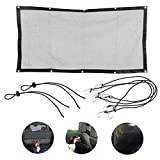 Newbested Car Dog Net Barrier,Vehicle Pet Barrier Back Seat Sturdy Mesh Net with Adjusting Rope and Hook,Disturbing Stopper from Children and Pets,for SUV Pickup and Small Car(45.3' x 24.4')
