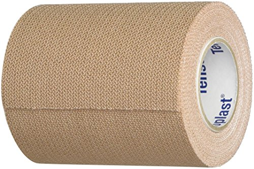 Tensoplast Elastic Athletic Tape, Provides Medium Support or Compression with High Adhesive Properties, Water Repellent and Air Permeable, Tan, 3