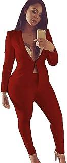 51cf152061 Amazon.it: Completo pantalone giacca - Rosso / Donna: Abbigliamento