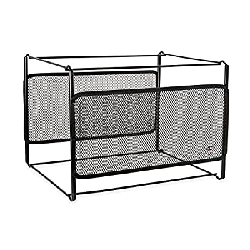 Rolodex - Eldon Mesh Collection Side-Load Double Tray with Hanging File Black  22191