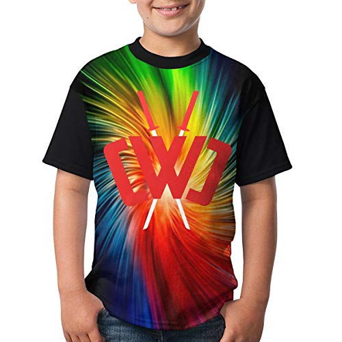 Chad Wild Clay Boys and Girls Print T-Shirts, Youth Fashion Tops XS