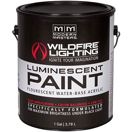Wildfire Optical White Visible Luminescent Paint, 1 Gallon