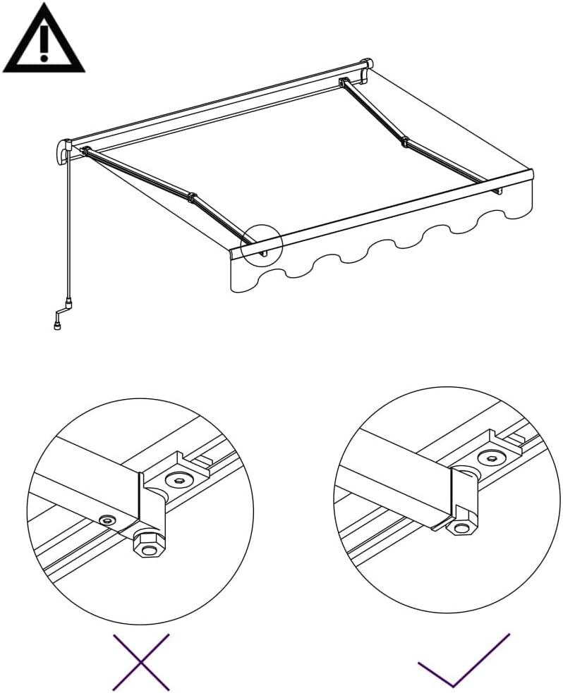 gaixample.org vidaXL Manual Retractable Awning Folding Arm Awning ...