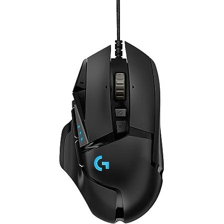 Logitech G502 HERO 16K - Ratón Gaming con Sensor Hero (Ratones RGB, 16.000 dpi, 11 Botones programables, 5 Pesas Ajustables, Equilibrio Personalizable) - Paquete alemán – Negro (Reacondicionado)
