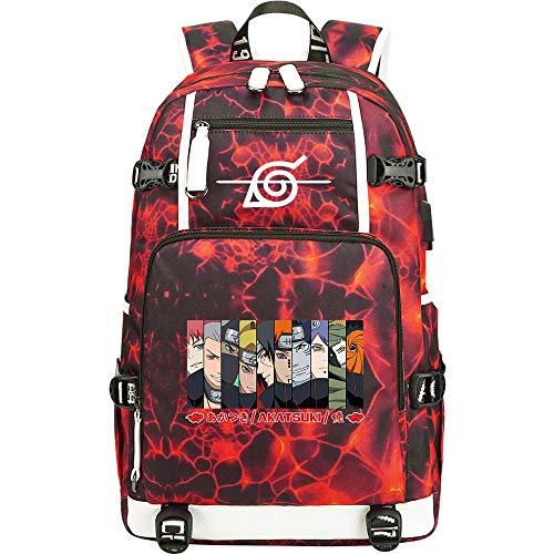 SHU-B Mochila para Chicas, Naruto Anime Moda Universidad Bolsas Estudiante Escuela Mochila Encaja 14 Pulgadas Laptop Viajes Bolsa Daypack