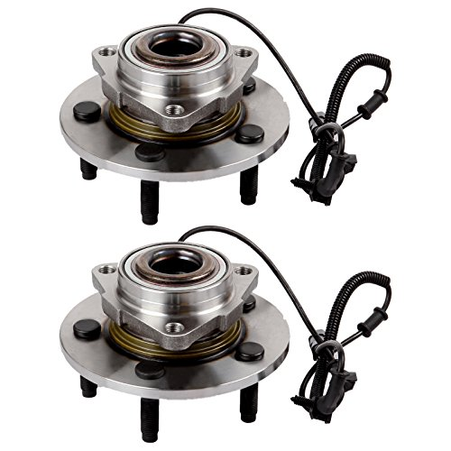 SCITOO Compatible with Both (2) 515126 New Complete Front Wheel Hub Bearing Assembly fit 2009 2010 Dodge RAM 1500 5 Lugs w/ABS