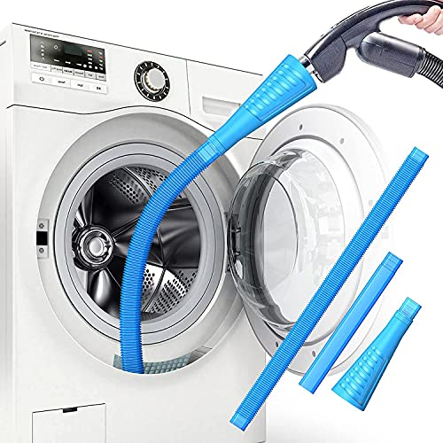 Dryer Lint Vacuum Attachments Lint Remover for Dryer Vent Cleaner Kit Dryer Vent Hose Brush Lint Trap for Deep Cleaning Fire Prevention Blue