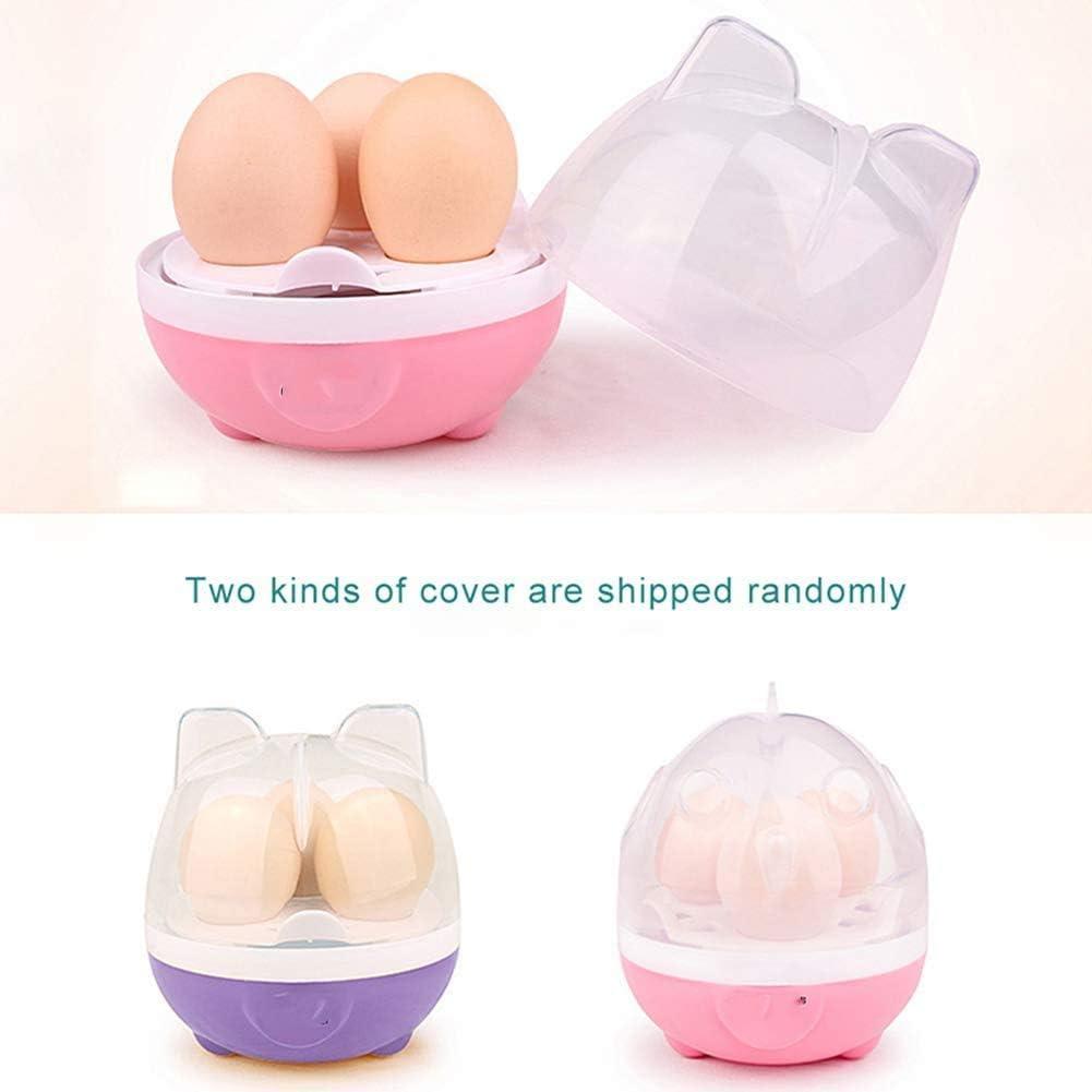 ZYLBDNB Ei-Dampfer, elektrische Eierkocher 1-3 Eier Mini Gedämpfter Ei Maschine Kochen Werkzeuge Küchenzubehör Eierkocher beweglicher Dampfer 220V,Pink Pink