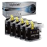 Alphaink KIT5 Cartucce Nero Compatibile per Brother LC3213 LC-3213 LC3211 LC-3211 per Stampanti Brother MFC-J491DW MFC-J497DW MFC-J890DW DCP-J572DW MFC-J895DW DCP-J774DW (5 Nero)