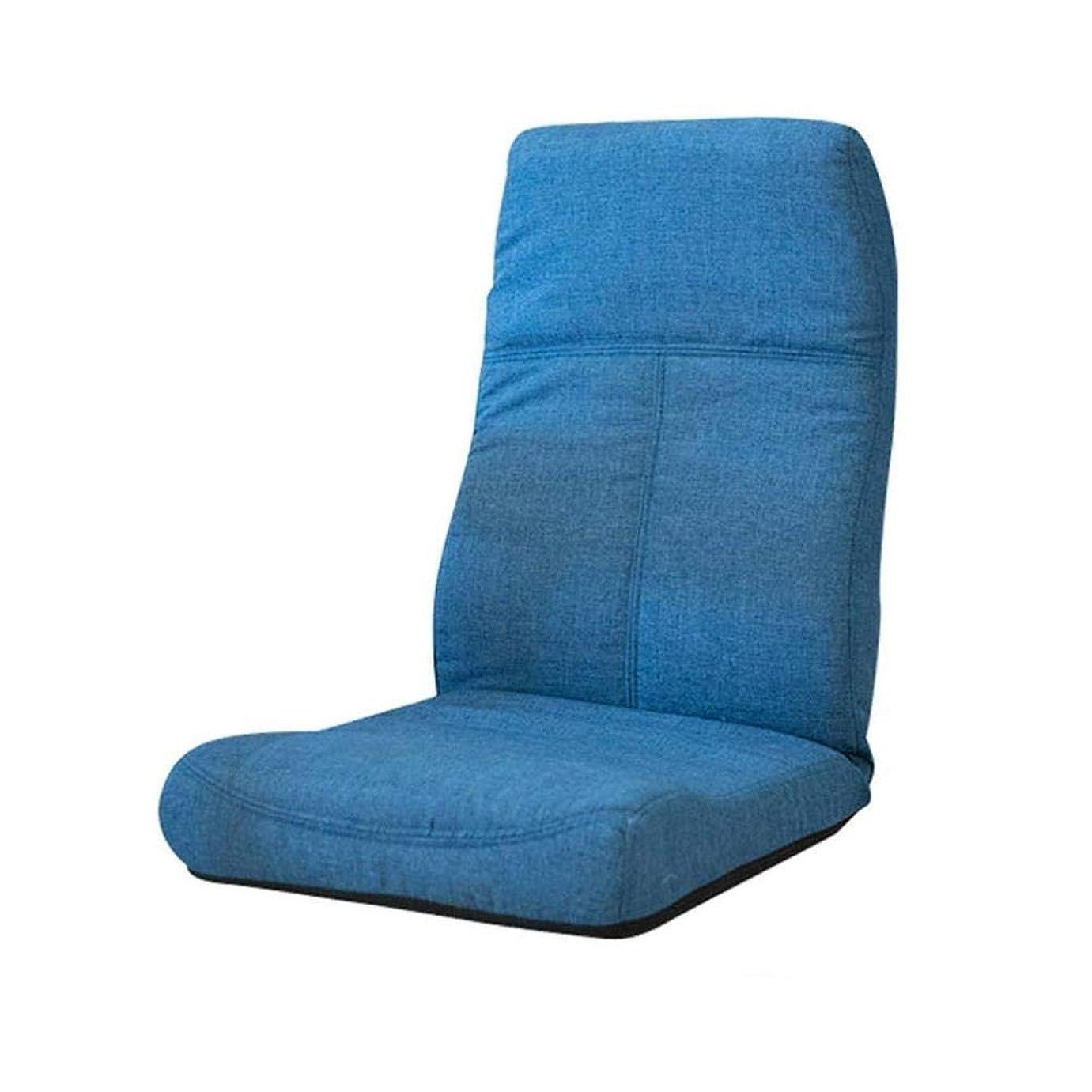 成熟セットアップ手伝う瞑想の椅子、座るソファー、折りたたみ畳の床、折り畳み式の洗える増粘、バルコニーの寝室のコンピュータークッションブルー