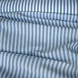 Stoff am Stück Stoff Baumwolle Bauernstreifen hellblau