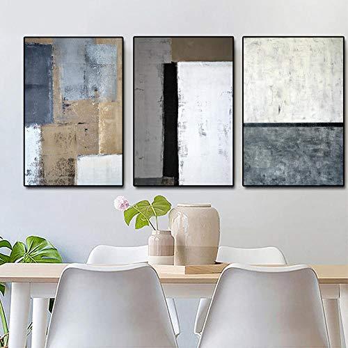 ZYQYQ Cuadros Decoracion Salon Sofá abstracto Sala de estar Impresiones decorativas moderna para el hogar Carteles Impresiones 30x40cmx3Pcs-Sin marco