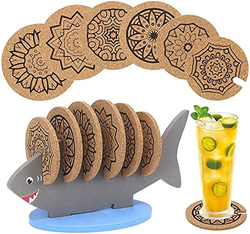 EXPECTLAND 6 Pack Cork Coasters Drinks Under blast sales for Resist Heat Challenge the lowest price of Japan ☆ Absorbent