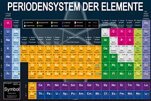 1art1 Schule - Periodensystem Der Elemente XXL Poster 180 x 120 cm
