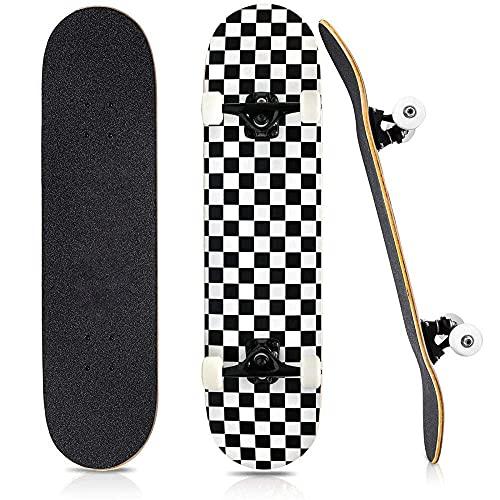 showyow Patineta Completa 31 & Times; 8 Pulgadas Pro Maple Penny Board patinetas ABEC-9 Teniendo longboards para niños, Adultos, Adolescentes, niños y niñas