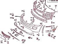 MB GL X164 フロント バンパー 左 ブラケット 中級 レイヤー A1648890395 NEW GENUINE