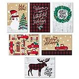 Hallmark Weihnachtskarten in Box  rustikale Feiert