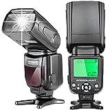 Neewer i-TTL Flash Speedlite con LCD Display, Diffusore Duro & Custodia per Fotocamere DSL...