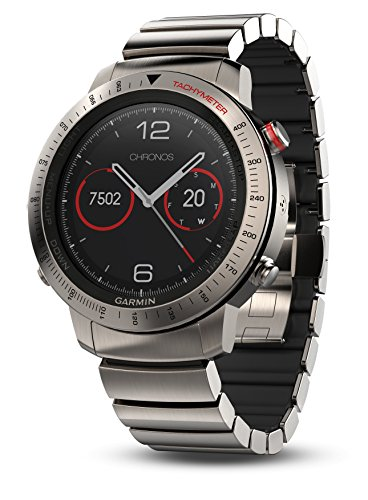 Garmin Fenix Chronos, Titanium with Brushed Titanium Hybrid Watch Band