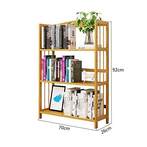 YLCJ Bamboe boekenkast Planken Portaoggetti Handdoek Boeken Magazines Novels Badkamer (Afmetingen: 70 * 26 * 177 cm)