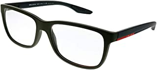 Prada Sport Rx Eyeglasses Frames Vpr 02G Ubw-1o1 56x17 Dark Green Rubber Italy