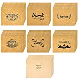 2.7 x 3.5inch Thank You Cards 48 Pack, with Envelopes and Thank You Stickers