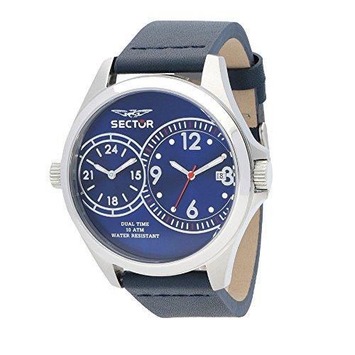 Sector Herren Analog Quarz Uhr mit Leder Armband R3251180015