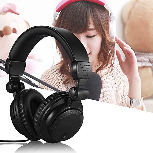 New YUSDP Wired Stereo Dynamic Monitor Headphone, Closed Back Over-Ear DJ Earphone, Telescopic Arms,...