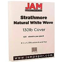 Jam用紙Strathmoreカードストック Pack of 125 オフホワイト