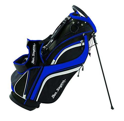 Photo of Ben Sayers Unisex's DLX Stand Bag, Black/Blue, 8.5-Inch
