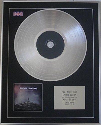 Century Music Awards IMAGINE DRAGONS - Ltd CD Platinum Disc - VISIONI NOTTE