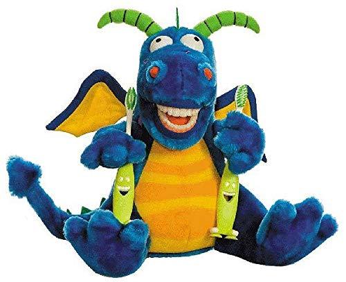 Zahnkönige | Plüschtier Puppe Drachen Drache | inkl. 1 Zahnbürste | ca. 20-30cm | Zahnarzt Kinder Deko