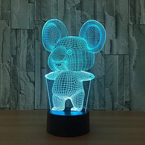 Koala Acryl Nachtlicht stereoskopische Lichtfarbe ändern Schlafzimmer Nachtlicht Baby kreatives Geschenk