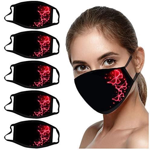 Sonojie 5PCS Herren Damen Sturmhauben Halstuch Komisch Bedruckter Sonnenschutz UV-Schutz Atmungsakti Schal Mundschutz Kopftuch aus Mikrofaser- fürs Skifahren draussen Nahtloses