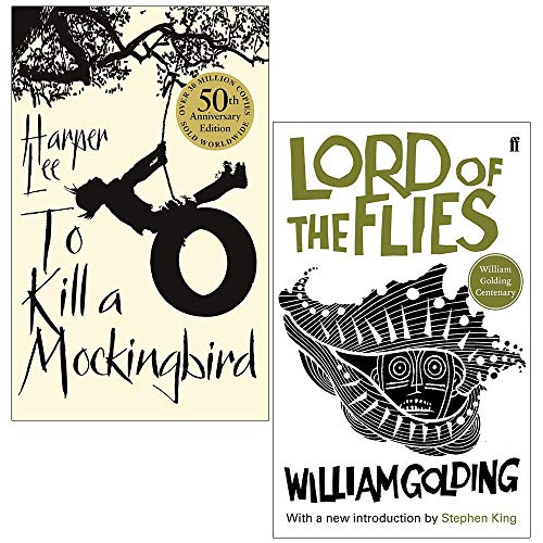 To Kill A Mockingbird By Harper Lee and Lord of the Flies By William Golding 2 Books Collection Set