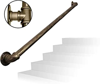 Handrail Silver Wrought Iron Stair Railing, Family Loft Corridor for The Elderly and Children Indoor and Outdoor Stairs Safety Railing Handle, Tube Diameter: 3.2 cm / 1.3 Inches, Can be Customi