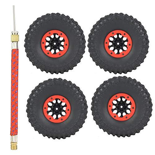 Cocosity Buje de Oruga RC, buje de Rueda RC, 4 Piezas 1.9 Pulgadas para Accesorio de Coche RC Traxxas axial(Red)