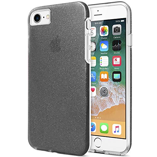 ZUSLAB Funda iPhone 8, iPhone 7, iPhone 6 Carcasa Dura Brillante Brillo, Funda rígido Semi Transparente, Carcase de niñas, Anti Choque Funda para Apple iPhone 8/7/6