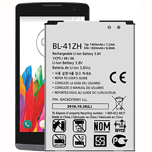 Replacement Battery BL-41ZH/BL-41ZHB Battery for TracFone LG Destiny L21G LG21G Battery