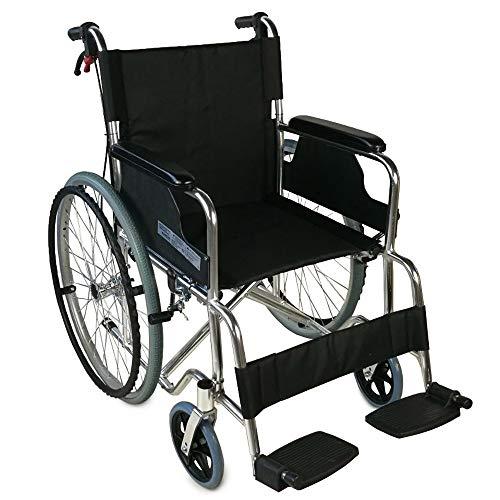 Mobiclinic, Modell Palacio Rollstuhl, Faltrollstuhl für ältere und behinderte Menschen, selbstfahren Leichtgewicht, Armlehnen, Fußstützen, Sitzbreite: 46 cm, Aluminium
