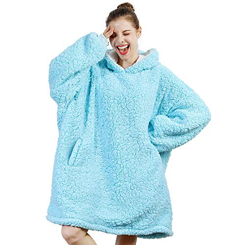 AmyHomie Blanket SweatshirtOversized Sherpa Hooded SweatshirtWearable Fleecehug Hoodie Blanket with Pocket for Adults amp Kids amp Teen