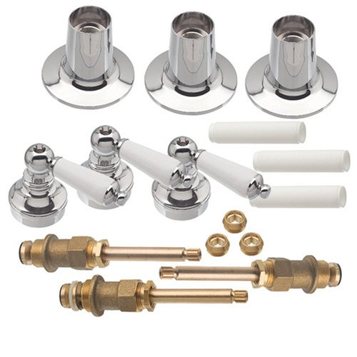 DANCO Trim Kit for Price Pfister Triple-Handle Tub and Shower Faucets, 3-Handle, Porcelain, 1-Pack Kit (39695)
