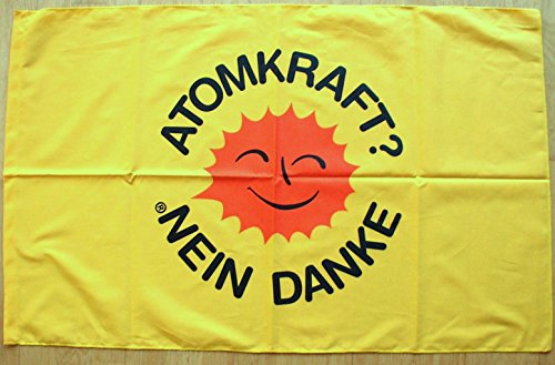 Atomkraft Nein Danke Poster-Fahne Poster Flag No. 172 Format 61 x 96 cm