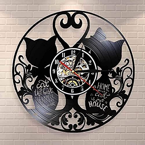 SHILLPS The Cat'S Homeless House Is The Only Gift To Celebrate The Housewarming Wall Clock with Led
