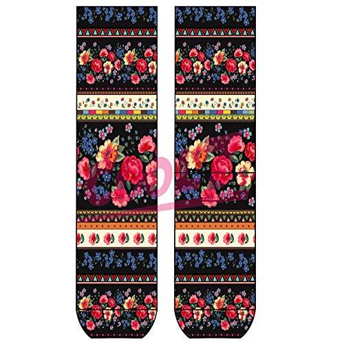 Sympatico Lady Socks 'Blossoms' OneSize Bio Baumwolle comic Design bunt Flower Blumen cool, Größe:One Size, Farben alle:blossoms