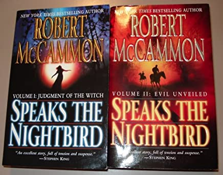 Robert McCammon Speaks the Nightbird set (Vol 1: Judgment of the Witch, Vol 2: Evil Unveiled) 2 book set