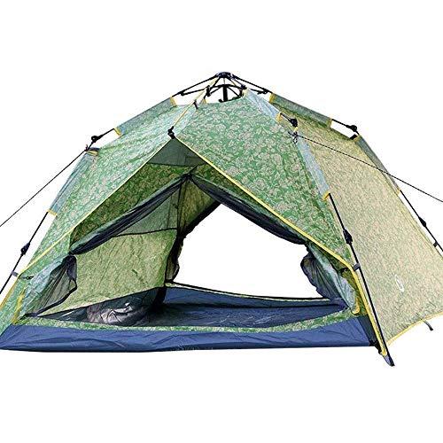 kyman Campingzelt Outdoor Automatisches Familien-Doppelzelt, leicht zu öffnen in 3 Sekunden, Zelt-Lüftungsdesign, Camping wasserdicht 215x215x155cm Automatisches Campingzelt
