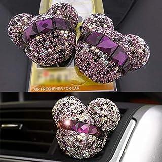 FANPING 2ST Mickey Mouse Auto Duft Lufterfrischer Auto Vent Duft Diffusor (Color : Purple)